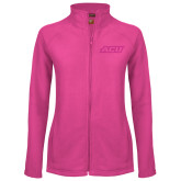 ACU Wildcat Ladies Fleece Full Zip Raspberry Jacket-ACU