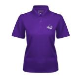 Ladies Purple Dry Mesh Polo-Angled ACU w/Wildcat Head