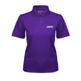 Ladies Purple Dry Mesh Polo-ACU Wildcats