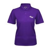 Ladies Purple Dry Mesh Polo-Angled ACU