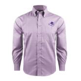 Red House Purple Plaid Long Sleeve Shirt-Angled ACU w/Wildcat Head