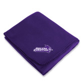 ACU Wildcat Purple Arctic Fleece Blanket-Primary Logo