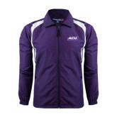 ACU Wildcat Colorblock Purple/White Wind Jacket-ACU Wildcats