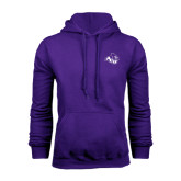Purple Fleece Hoodie-Angled ACU w/Wildcat Head