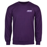 ACU Wildcat Purple Fleece Crew-ACU Wildcats