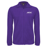 ACU Wildcat Fleece Full Zip Purple Jacket-ACU Wildcats