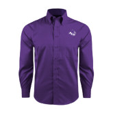 Red House Purple Long Sleeve Shirt-Angled ACU w/Wildcat Head
