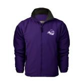 Purple Survivor Jacket-Angled ACU w/Wildcat Head