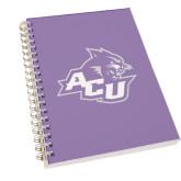 Clear 7 x 10 Spiral Journal Notebook-Angled ACU w/Wildcat Head