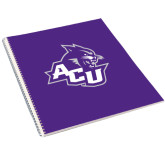 College Spiral Notebook w/Clear Coil-Angled ACU w/Wildcat Head