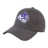 ACU Wildcat Charcoal Twill Unstructured Low Profile Hat-Angled ACU w/Wildcat Head