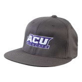 Charcoal Flexfit Flat Bill Pro Style Hat-ACU Wildcats