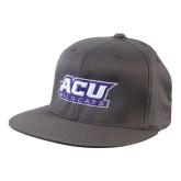 ACU Wildcat Charcoal Flexfit Flat Bill Pro Style Hat-ACU Wildcats