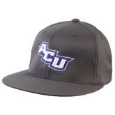 Charcoal Flexfit Flat Bill Pro Style Hat-Angled ACU
