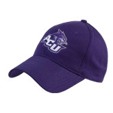 Purple Heavyweight Twill Pro Style Hat-Angled ACU w/Wildcat Head