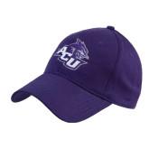 ACU Wildcat Purple Heavyweight Twill Pro Style Hat-Angled ACU w/Wildcat Head