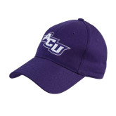 Purple Heavyweight Twill Pro Style Hat-Angled ACU