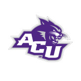 Abilene Christian Small Magnet-Angled ACU w/Wildcat Head, 6 inches wide