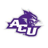 Abilene Christian Medium Magnet-Angled ACU w/Wildcat Head, 8 inches wide