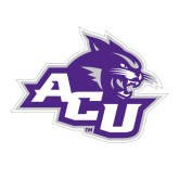 Abilene Christian Large Magnet-Angled ACU w/Wildcat Head, 12 inches wide