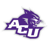 Abilene Christian Extra Large Magnet-Angled ACU w/Wildcat Head, 18 inches wide