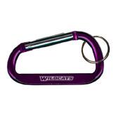 ACU Wildcat Purple Carabiner with Split Ring-Wildcats Engraved