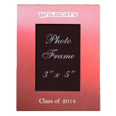 ACU Wildcat Pink Brushed Aluminum 3 x 5 Photo Frame-Wildcats Engraved, Personalized