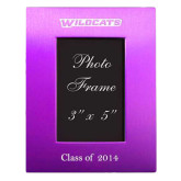 Purple Brushed Aluminum 3 x 5 Photo Frame-Wildcats Engraved, Personalized