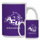 ACU Wildcat Full Color White Mug 15oz-Grandma