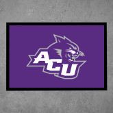 ACU Wildcat Full Color Indoor Floor Mat-Angled ACU w/Wildcat Head