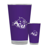 ACU Wildcat Full Color Glass 17oz-Angled ACU w/Wildcat Head