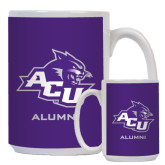 ACU Wildcat Alumni Full Color White Mug 15oz-Alumni