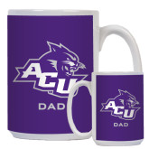 ACU Wildcat Dad Full Color White Mug 15oz-Dad