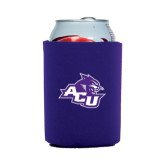 ACU Wildcat Collapsible Purple Can Holder-Angled ACU w/Wildcat Head