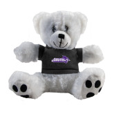 ACU Wildcat Plush Big Paw 8 1/2 inch White Bear w/Black Shirt-Primary Logo