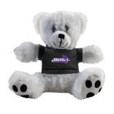 ACU Wildcat Plush Big Paw 8 1/2 inch White Bear w/Black Shirt-Primary Logo