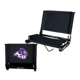 ACU Wildcat Stadium Chair Black-Angled ACU w/Wildcat Head