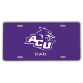 ACU Wildcat License Plate-Dad