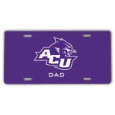 ACU Wildcat License Plate-Dad