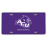 ACU Wildcat License Plate-Grandpa