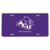 ACU Wildcat License Plate-Grandpa