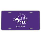 ACU Wildcat License Plate-Alumni