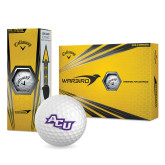 ACU Wildcat Callaway Warbird Golf Balls 12/pkg-Angled ACU