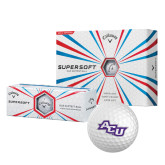 ACU Wildcat Callaway Supersoft Golf Balls 12/pkg-Angled ACU