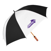 ACU Wildcat 62 Inch Black/White Umbrella-Primary Logo