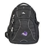 High Sierra Swerve Black Compu Backpack-Angled ACU w/Wildcat Head