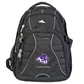 High Sierra Swerve Black Compu Backpack-Angled ACU w/Wildcat Head, Personalized
