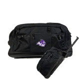 Urban Passage Wheeled Black Duffel-Angled ACU w/Wildcat Head
