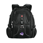 Wenger Swiss Army Mega Black Compu Backpack-Angled ACU w/Wildcat Head