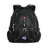 ACU Wildcat Wenger Swiss Army Mega Black Compu Backpack-Angled ACU w/Wildcat Head